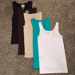 Lot of (5) Women's Stretch Tanks Tops by Sugarlips